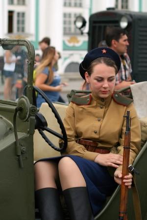 Выставка военной техники на Дворцовой площади